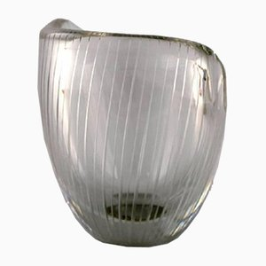 Clear Glass Vase by Tapio Wirkkala for Iittala, 1960s