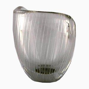 Vaso in vetro trasparente di Tapio Wirkkala per Iittala, anni '60