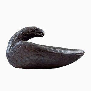 Cuenco modernista de cerámica en forma de águila de Johannes Olofsson para Höganäs Keramik, años 20