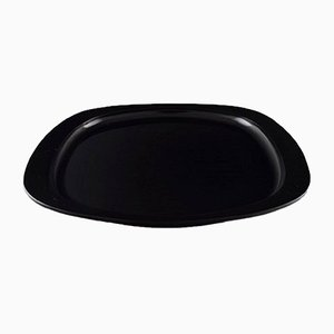 Vintage Black Plastic Tray by Henning Koppel for Georg Jensen