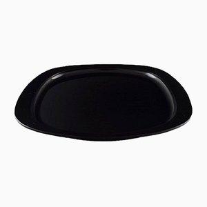 Vintage Black Plastic Tray by Henning Koppel for Georg Jensen