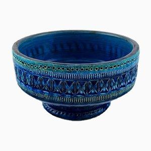 Scodella Rimini in ceramica blu di Aldo Londi per Bitossi, anni '60