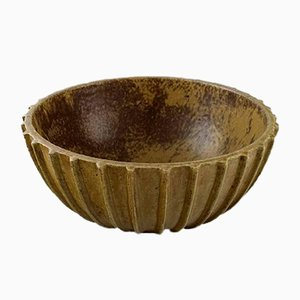 Vintage Fluted Stoneware Bowl by Arne Bang