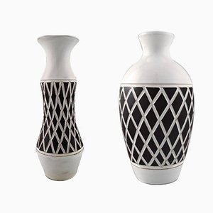 Sweish Ceramic Gabriel Vases, 1960s, Set of 2