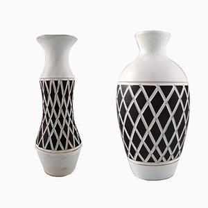Vases Gabriel en Céramique, Suède, 1960s, Set de 2
