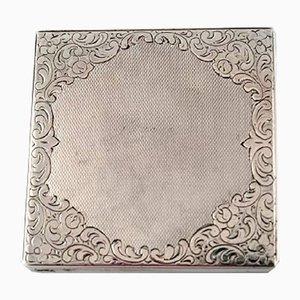 Vintage 0.830 Streichholzschachtel aus Silber, 4er Set
