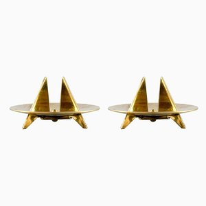 Sculptural Candle Holders by Pierre Forsell for Skultuna, Set of 2