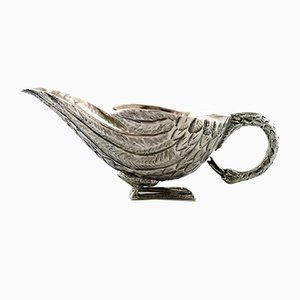 Vintage Turkish Silver Bird-Shaped Creamer