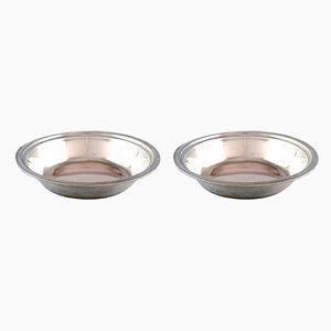 Danish Silver Bowls, 1950s, Set of 2