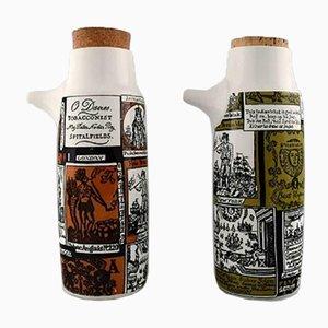 Jarras vintage de cerámica de Bengt Berglund. Juego de 5