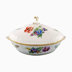 Vintage Saxon Flower Lidded Tureen from Royal Copenhagen