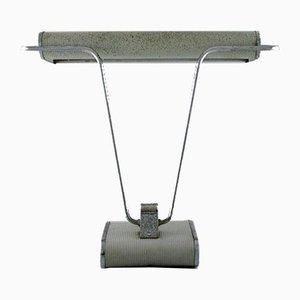 Lámpara de escritorio francesa de hierro cromado de Eileen Gray para Jumo, años 30