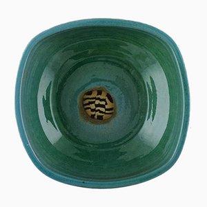 Vintage Schale aus glasiertem Steingut von Helle Alpass