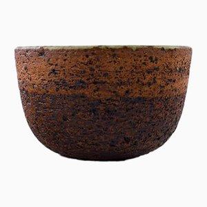 Vintage Blue-Green Stoneware Bowl by Helle Alpass