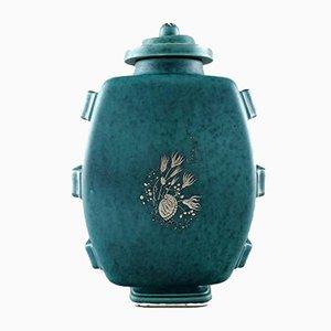Vase Style Art Déco par Wilhelm Kåge pour Gustavsberg, 1940s