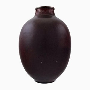 Mid-Century Danish Stoneware Vase by Kresten Bloch for Royal Copenhagen, 1950s
