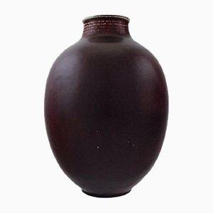 Vase Mid-Century en Grès par Kresten Bloch pour Royal Copenhagen, Danemark, 1950s