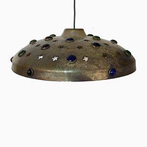 Lampada da soffitto vintage in ottone di Nanny Still per RAAK, Olanda