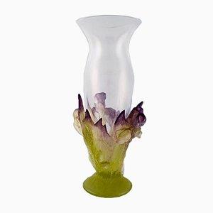 Französische Jugendstil Glasvase von Daum