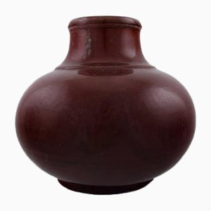 Art Deco Danish Stoneware Vase by Patrick Nordstrøm & Carl Halier for Royal Copenhagen, 1920s