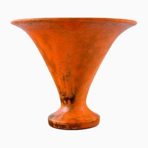 Vintage Art Deco Danish Stoneware Vase by Svend Hammershøi for Kähler, 1930s