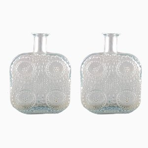 Vintage Finnish Graponia Glass Vases by Nanny Still for Riihimäen Lasi, Set of 2