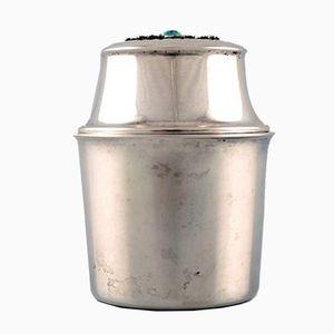 Scandinavian Silver Lidded Jar, 1950s