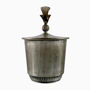 Mid-Century Pewter Lidded Jar, 1940s