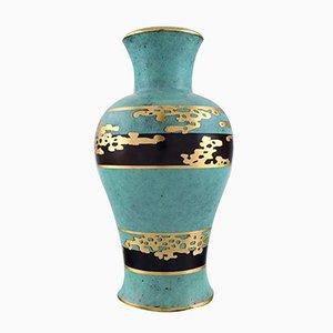 Deutsche Vintage Art Deco Ikora Vase aus Bronze und Gold von WMF, 1930er