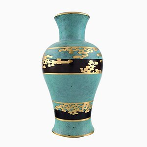 Vintage Art Deco German Ikora Bronze and Gold Vase from WMF, 1930s