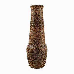 Vaso grande vintage in gres di Gunnar Nylund per Rörstrand
