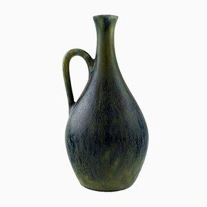 Vase Bouteille Vintage en Grès avec Poignée par Carl Harry Stålhane pour Rörstrand