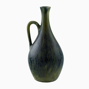 Vintage Stoneware Bottle Vase with Handle by Carl Harry Stålhane for Rörstrand
