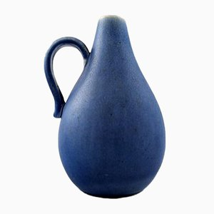 Vintage Blue Glazed Ceramic Pitcher from Rörstrand