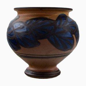 Vintage Art Deco Danish Stoneware Vase from Kähler, 1930s