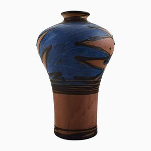 Vintage Art Deco Danish Stoneware Vase from Kähler, 1930s