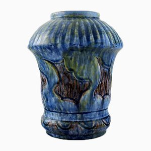 Art Nouveau Danish Glazed Ceramic Pottery Vase from Moller & Bøgely