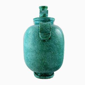 Grand Vase Art Déco Argenta en Céramique par Wilhelm Kåge pour Gustavsberg, Suède, 1940s