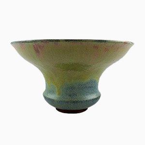 Jarrón francés Art Déco grande de cerámica de Felix-Auguste Delaherche