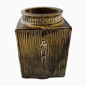 Vintage Glazed Stoneware Vase by Svend Hammershøi for Kähler, HAK