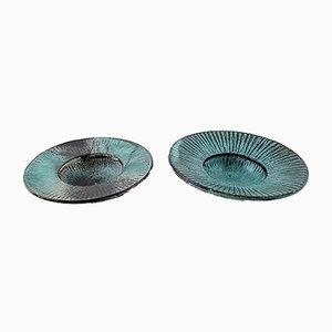 Danish Round Glazed Bowls from Kähler, HAK, 1930s, Set of 2