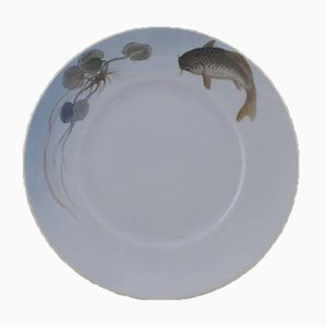 Art Nouveau Fish Plates from Royal Copenhagen, Set of 5