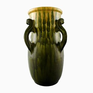 Glazed Stoneware Vase with Handles by Kähler, 1920s