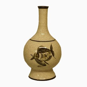 Large Vintage Craquele Fish Vase from Bing & Grondahl