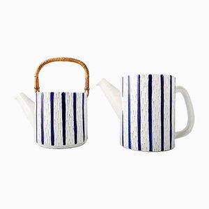 Zweiteilige Vintage Teekanne von Stig Lindberg für Gustavsberg