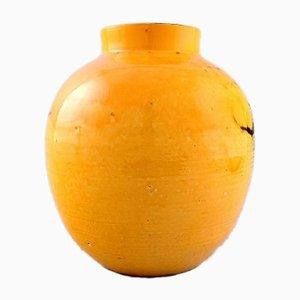 Große glasierte dänische Vase von Svend Hammershøi für Kähler, 1930er