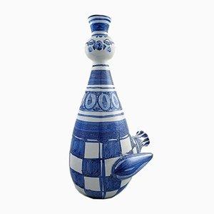 Portacandela a forma di uccello in ceramica di Bjørn Wiinblad, anni '70, set di 2