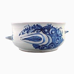 Vaso da fiori in ceramica blu di Bjørn Wiinblad, anni '70