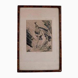 Antique Aeneas and Dido Lithograph by Honore Daumier