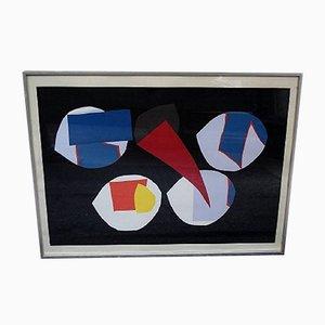 Farbige Lithografie von Richard Mortensen, 1960er